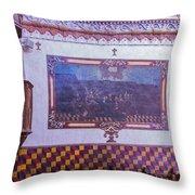 Pulpit San Xavier Mission - Tucson Arizona Throw Pillow