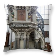 Pulpit - St Lambertus - Germany Throw Pillow