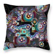 Pulse Of The Motherboard Throw Pillow