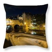 Pulteney Bridge At Night Throw Pillow