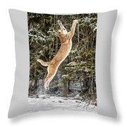 Puma High Jump Throw Pillow