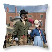 Pumi Art Canvas Print - Settling Day At Tattersalls Throw Pillow
