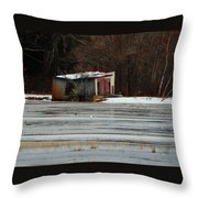Pump House On The Cranberry Bog Throw Pillow