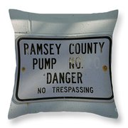 Pump Station No. 00 Throw Pillow