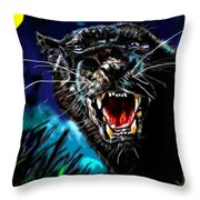 Pumpernickel Puma Throw Pillow
