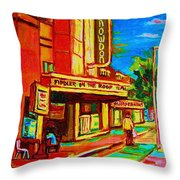 Pumperniks And The Snowdon Theatre Throw Pillow