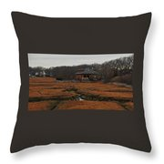 Pumping Station On The Marsh Throw Pillow