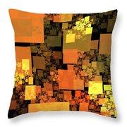 Pumpkin Autumn Cubes Throw Pillow