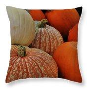 Pumpkin Colors Throw Pillow