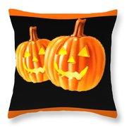 Pumpkin Double  Throw Pillow