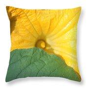 Pumpkin Flower Throw Pillow