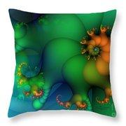Pumpkin Garden Throw Pillow