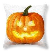 Pumpkin Glow Throw Pillow