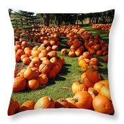 Pumpkin - Happy Thanksgiving Throw Pillow