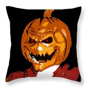 Pumpkin Head Throw Pillow