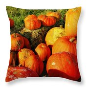 Pumpkin Meeting Throw Pillow
