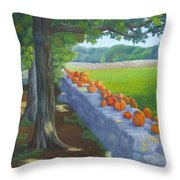 Pumpkin Muster Throw Pillow