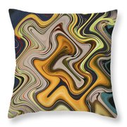Pumpkin On Fence Abstract # 6822 Wwt Throw Pillow