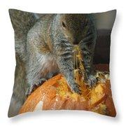 Pumpkin On The Menu Throw Pillow