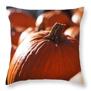 Pumpkin Patch Farm Throw Pillow