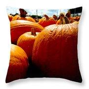 Pumpkin Patch Piles Throw Pillow