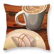 Pumpkin Scone And Pumpkin Latte Throw Pillow