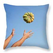 Pumpkin Time Throw Pillow