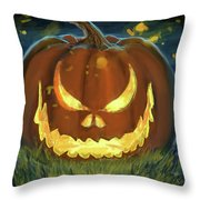 Pumpkinfire Throw Pillow