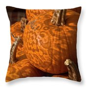 Pumpkins And Lace Shadows Throw Pillow