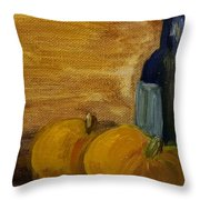 Pumpkins And Wine  Throw Pillow