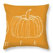 Pumpkins- Art By Linda Woods Throw Pillow by Linda Woods