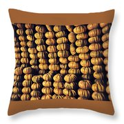 Pumpkins Throw Pillow