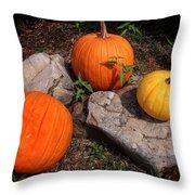 Pumpkins For October  Throw Pillow