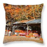 Pumpkins For Sale Throw Pillow