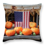 Pumpkins In Southampton Throw Pillow