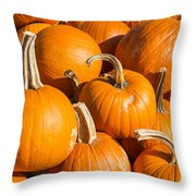 Pumpkins Pile 1 Throw Pillow
