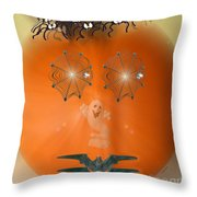 Pumpkitsch Throw Pillow