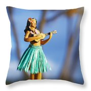 Punaluu, Hula Doll Throw Pillow