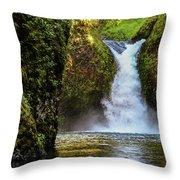 Punch Bowl Falls, Oregon Throw Pillow