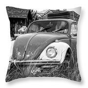Punch Bug Throw Pillow by Bitter Buffalo Photography