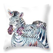 Punda Milia Zebra Throw Pillow