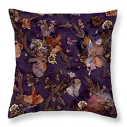 Pungent Purples And Pretty In Pinks Throw Pillow