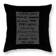 Punk Stuff Poster 5 Throw Pillow
