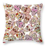 Punk Rock Pattern Throw Pillow
