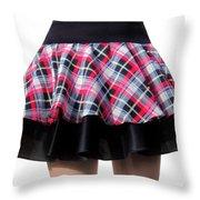 Punk Style Mini Skirt - Ameynra Fashion Throw Pillow