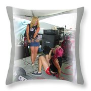 Punks Play Throw Pillow
