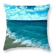 Punta Cana Beach Throw Pillow