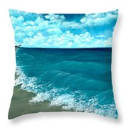 Punta Cana Beach Throw Pillow