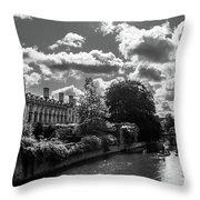 Punting, Cambridge. Throw Pillow