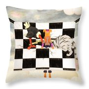 Puppet Doggy In Trouble Again Throw Pillow